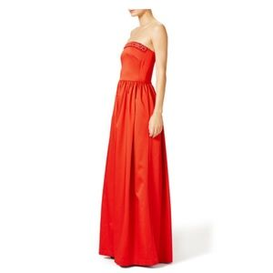 Shoshanna Strapless beaded Gown